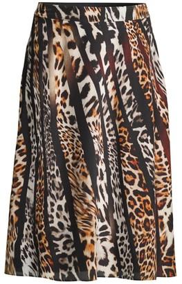 Kobi Halperin Bari Printed Silk Skirt