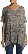 Bishop + Young 2-Pocket Poncho Sweater, Gray