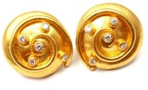 Yossi Harari 24K Yellow Gold Spiral 0.50ctw Diamond Earrings