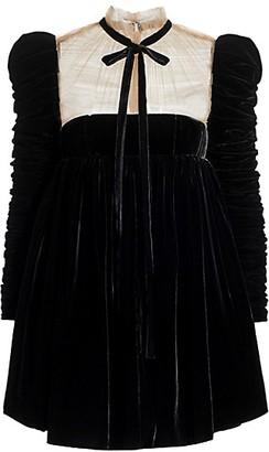 KHAITE Ann Velvet Tieneck Dress