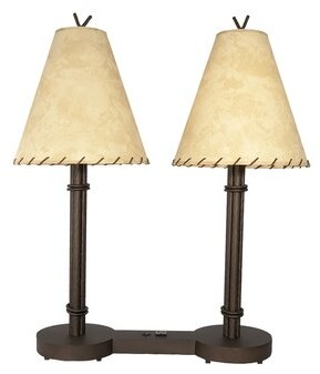 "Millwood Pines Worrell Hospitality 34"" Table Lamp Base Color/Finish: Architectural Bronze"