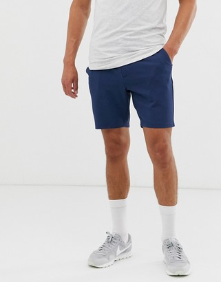 ONLY & SONS smart jersey short in navy
