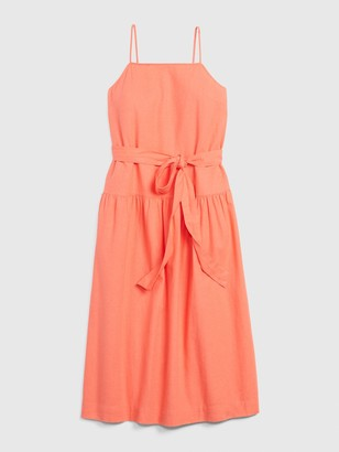Gap Apronneck Maxi Dress in Linen