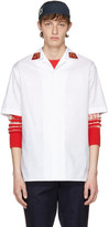 Gucci White Saturn Bowling Shirt