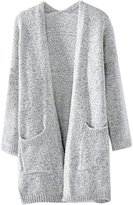 Inshine Women Casual Open-front Pocket Knit Long Cardigan Sweater Coat
