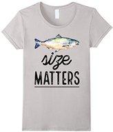 Women's Size Matters Fishing T-Shirts Light Medium