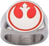 Star Wars Red Rebel Alliance Symbol Stainless Steel Ring - 9
