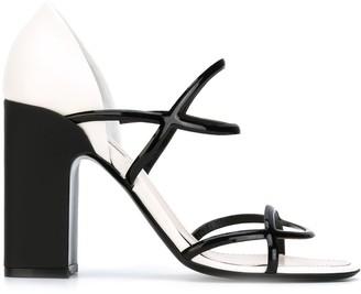 Fabrizio Viti Open Toe Block Heel Sandals
