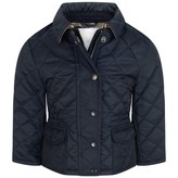 Burberry BurberryBaby Girls Navy Quilted Mini Neals Jacket