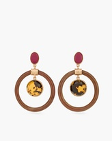 Chico's Mila Drop Hoop Earrings