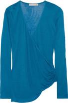 Kain Label Arabella wrap-effect modal and silk-blend top