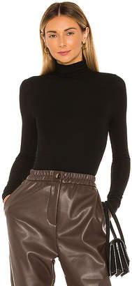 Enza Costa Rib Long Sleeve Turtleneck Bodysuit
