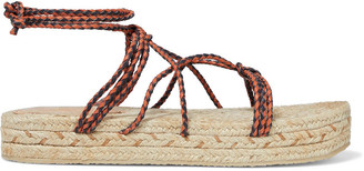 Zimmermann Braided Leather Platform Espadrille Sandals