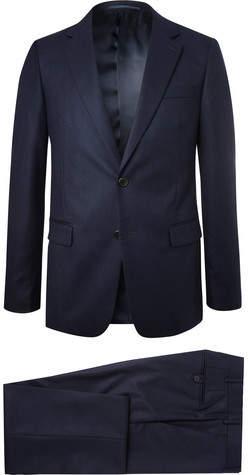 Prada Navy Slim-Fit Super 120s Wool-Flannel Suit