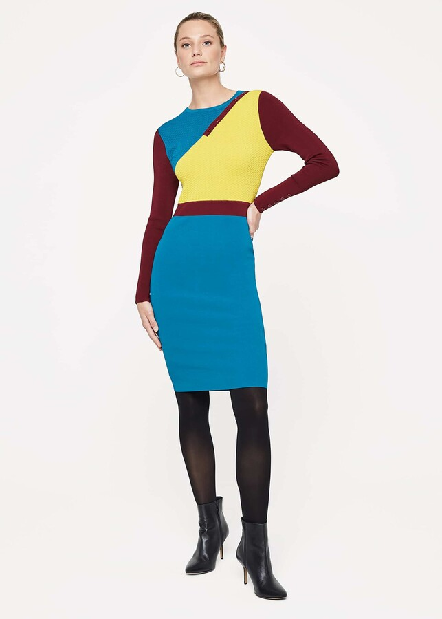 Thumbnail for your product : Phase Eight Cliona Colourblock Knit Dress