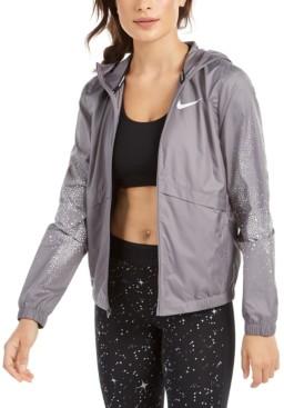 Nike Women's Essential Water-Repellent Hooded Running Jacket