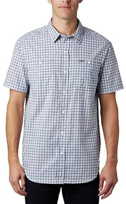 Columbia Leadville Ridgetm Short Sleeve Shirt II (New Moon Small Grid Plaid) Men's Clothing
