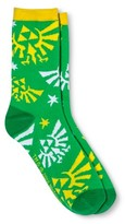 Nintendo The Legend of Zelda Women's Crew Sock - Green One Size Fits Most