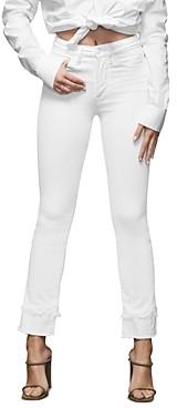 Good American Frayed-Double Hem Jeans