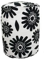 Room Essentials Pouf - Black & White Floral - Room Essentials