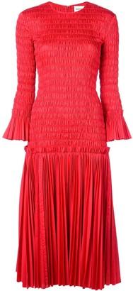 KHAITE Ruched Midi Dress