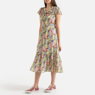 Suncoo Castille Printed Dress with Short Sleeves