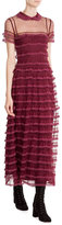 RED Valentino Tiered Lace Maxi-Dress