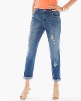 Chico's Crystal Stones Boyfriend Jeans