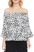 Vince Camuto Animal Whispers Off-The-Shoulder Top