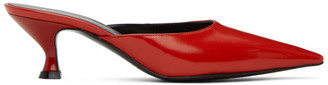 Kwaidan Editions Red Kitten Heel Mules