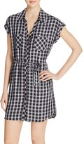 Soft Joie Safia Plaid Shirt Dress