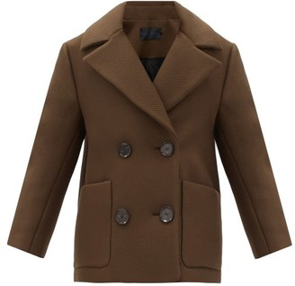 Proenza Schouler Double-breasted Twill Pea Coat - Brown