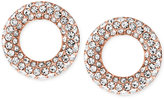 Michael Kors Pavé Crystal Circle Stud Earrings