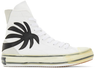 Palm Angels White Vulcanized Palm Sneakers