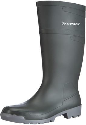 Dunlop Unisex Adult W486711Hobby Knee Long Shaft Wellies Green Size: 6 UK(39-40 EU)