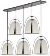 west elm Rejuvenation Haleigh Wire Dome Chandelier, Linear Canopy -Polished Nickel