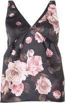 Rochas rose-print top - women - Silk/Polyester - 40