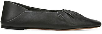 Vince Kali Square-Toe Leather Ballet Flats
