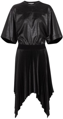 Givenchy Lacquered pleated T-shirt dress