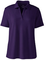 Lands' End Women's Regular Short Sleeve Johnny Collar-Prism