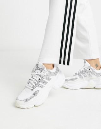 adidas Magmur runner in white glitter