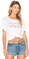 Wildfox Couture Cabana Fling Tee in White. - size L (also in M,S,XS)