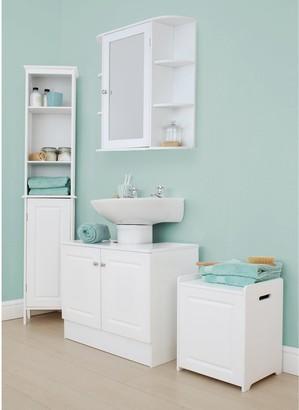 Lloyd Pascal Devonshire Tall Bathroom Cabinet - White