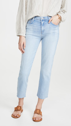 L'Agence Sada High Rise Crop Slim Jeans