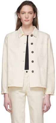 The Row Off-White Denim Kurt Jacket