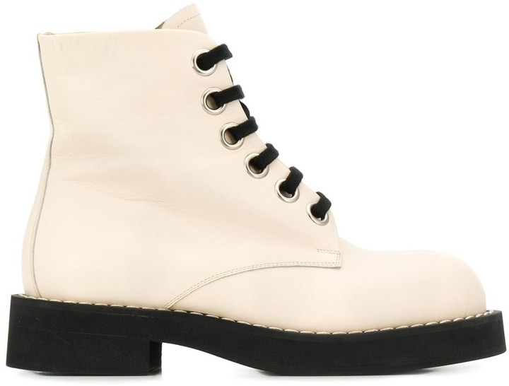 Marni Lace-Up Ankle Boots - ShopStyle