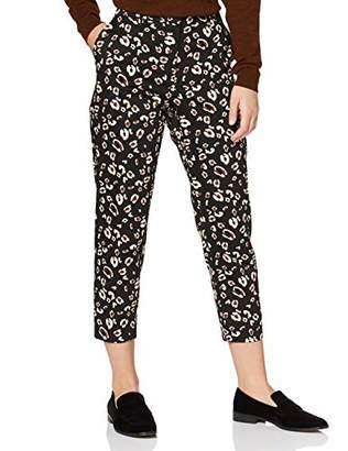 Dorothy Perkins Petite Women's AC Animal Print Naples Ankle Grazer Trousers,(Size:)