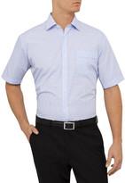 Van Heusen Short Sleeve Small Gingham Check Shirt