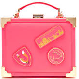 Aspinal of London Women's Yang Mi Trunk Clutch Neon Pink