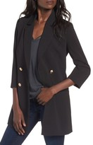 Mural Women's Longline Double Breasted Blazer